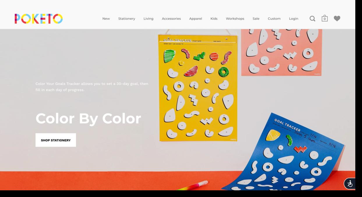 Poketo website screenshot lifestyle brand Ecommerce Website Designs