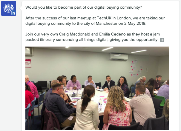 Digital buying community social media post - CCS