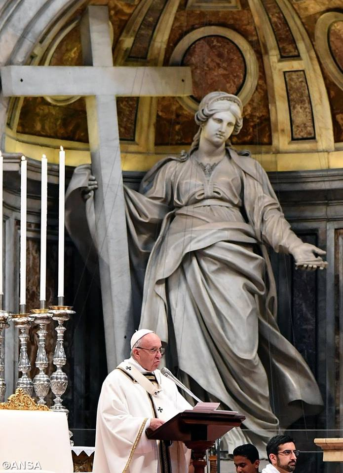 Toàn văn bài giảng của Đức Thánh Cha tại Lễ Truyền Dầu Thứ Năm