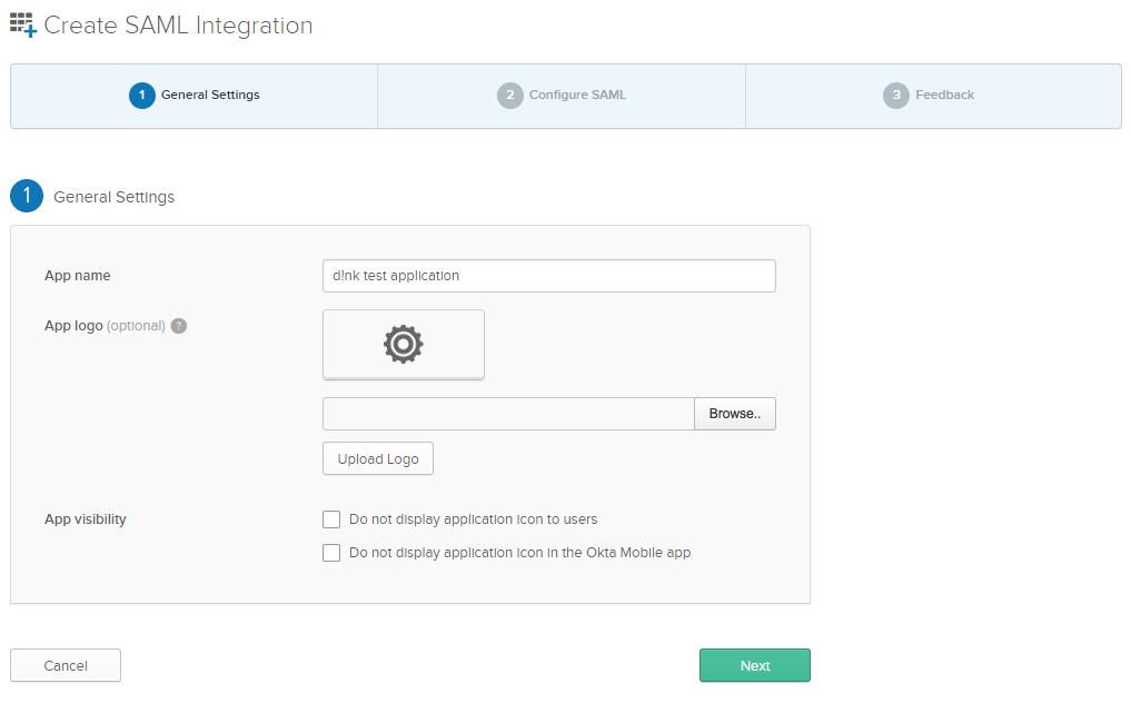 d!nk SSO integration with Okta Identity Cloud – dINK support center