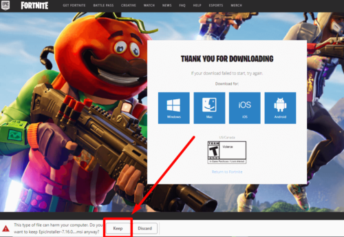 How to download Fortnite Battle Royale for PC – Windows 10