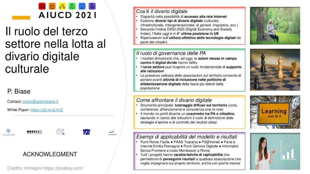 Pietro Biase - Il ruolo del terzo settore nella lotta al divario digitale culturale