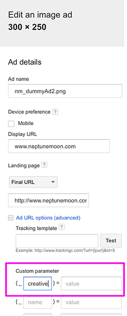 Set custom parameters for your URLs