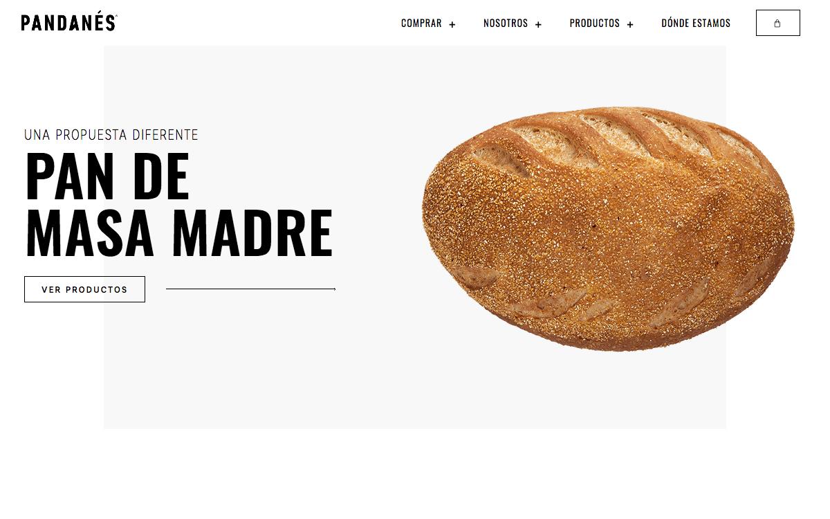 Página de inicio de la web Pan Danés