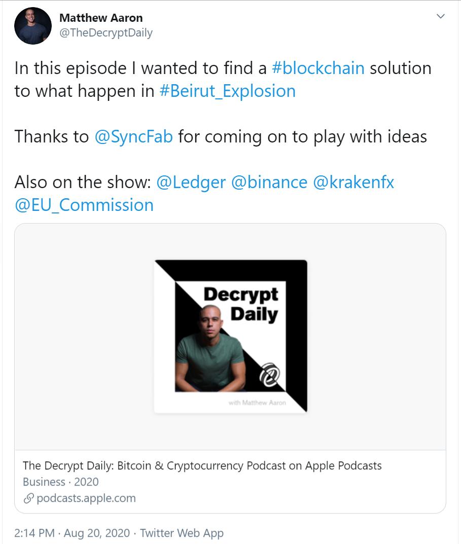 syncfab-decrypt-beirut-blast-blockchain-solution