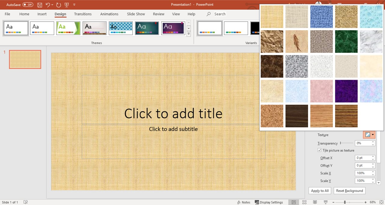 Customize PowerPoint Background