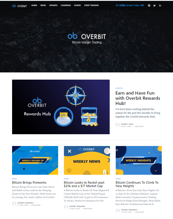 Overbit Blog, a source of quality content for traders to make best cryptocurrency decisions to invest into for 2020 and beyond. This blog also shares news on bitcoin and its future in this cryptocurrency space.  Women In Marketing