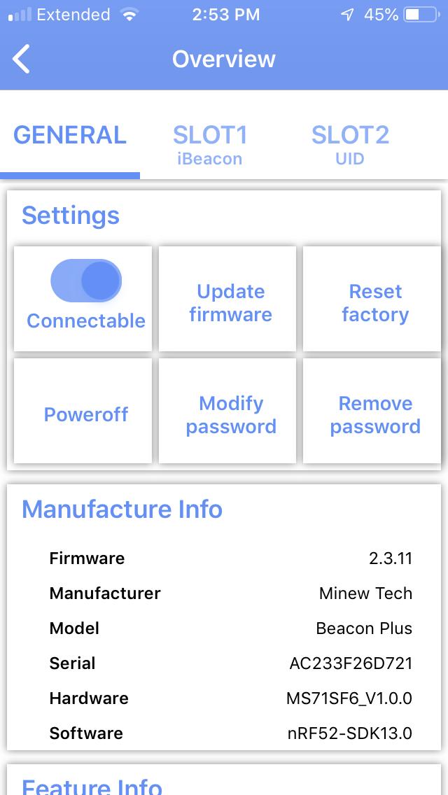 Basic Configuration of Minew Beacons – Revolution11 Blog