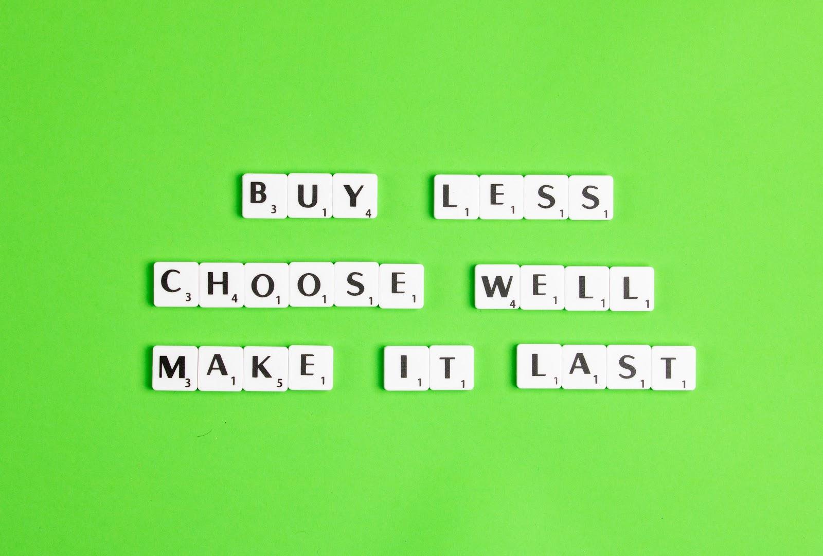 Buy less sentence