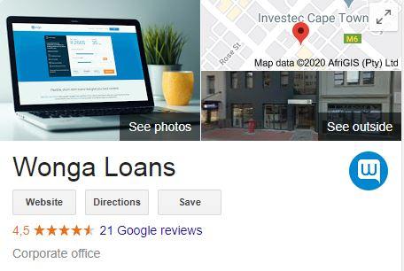 Wonga online google reviews