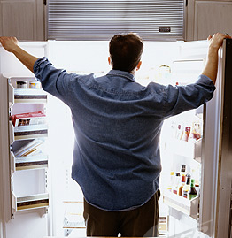 Open fridge image