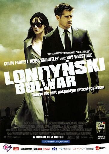 Przód ulotki filmu 'Londyński Bulwar'