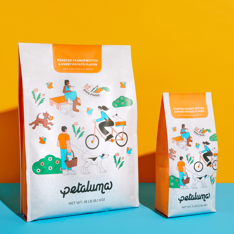 product photo of petaluma dog food bag
