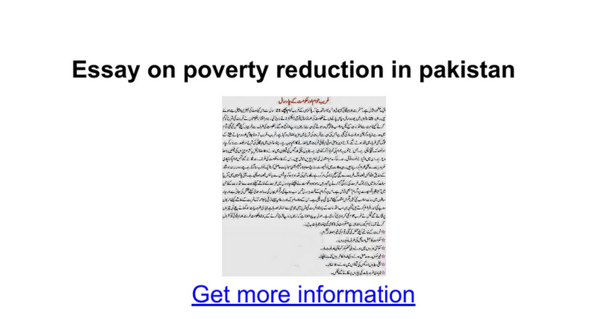 essay on poverty reduction in google docs