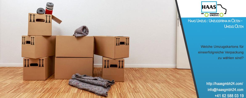 Welche Umzugskartons für eine erfolgreiche Verpackung zu wählen sind? Haas Umzug : Umzugsfirma in Olten
