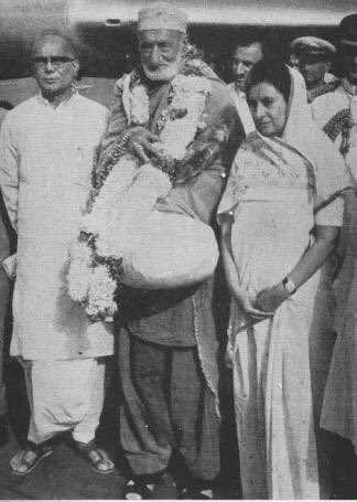 Image result for badshah khan in india 1969