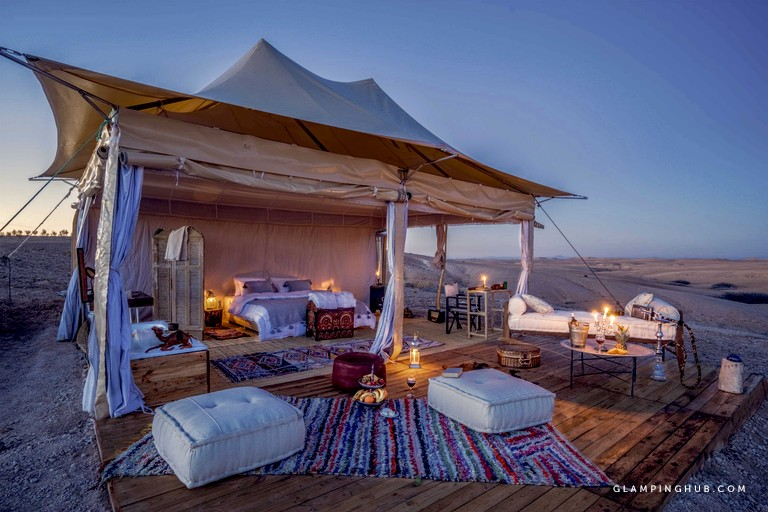 Enchanting Luxury Tents in the Agafay Desert, Morocco - Glamping Hub