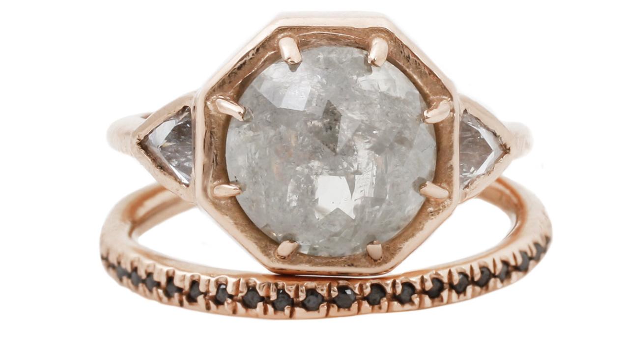 rose gold ring set