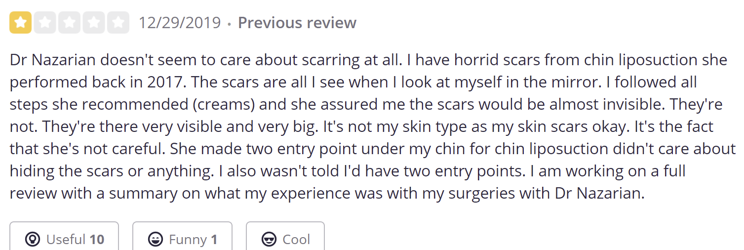 Nazarian Plastic Surgery review