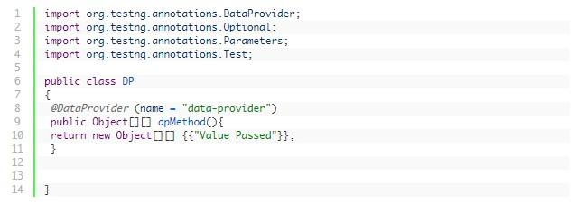 dataprovider in testng