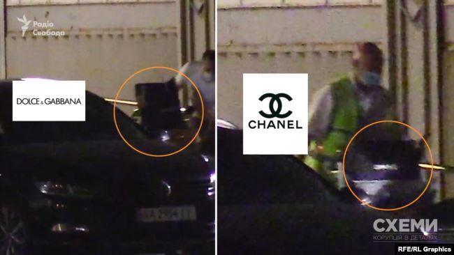 «Схеми» зафіксували візки з пакетами, на деяких із яких виднілися написи елітних брендів