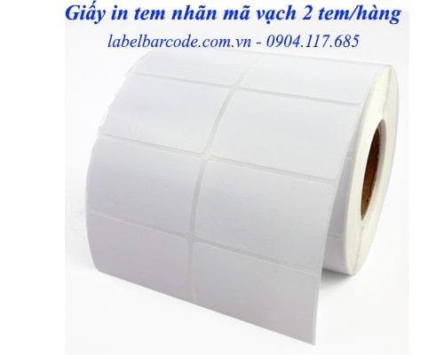 giấy in mã vạch 2 tem giá rẻ
