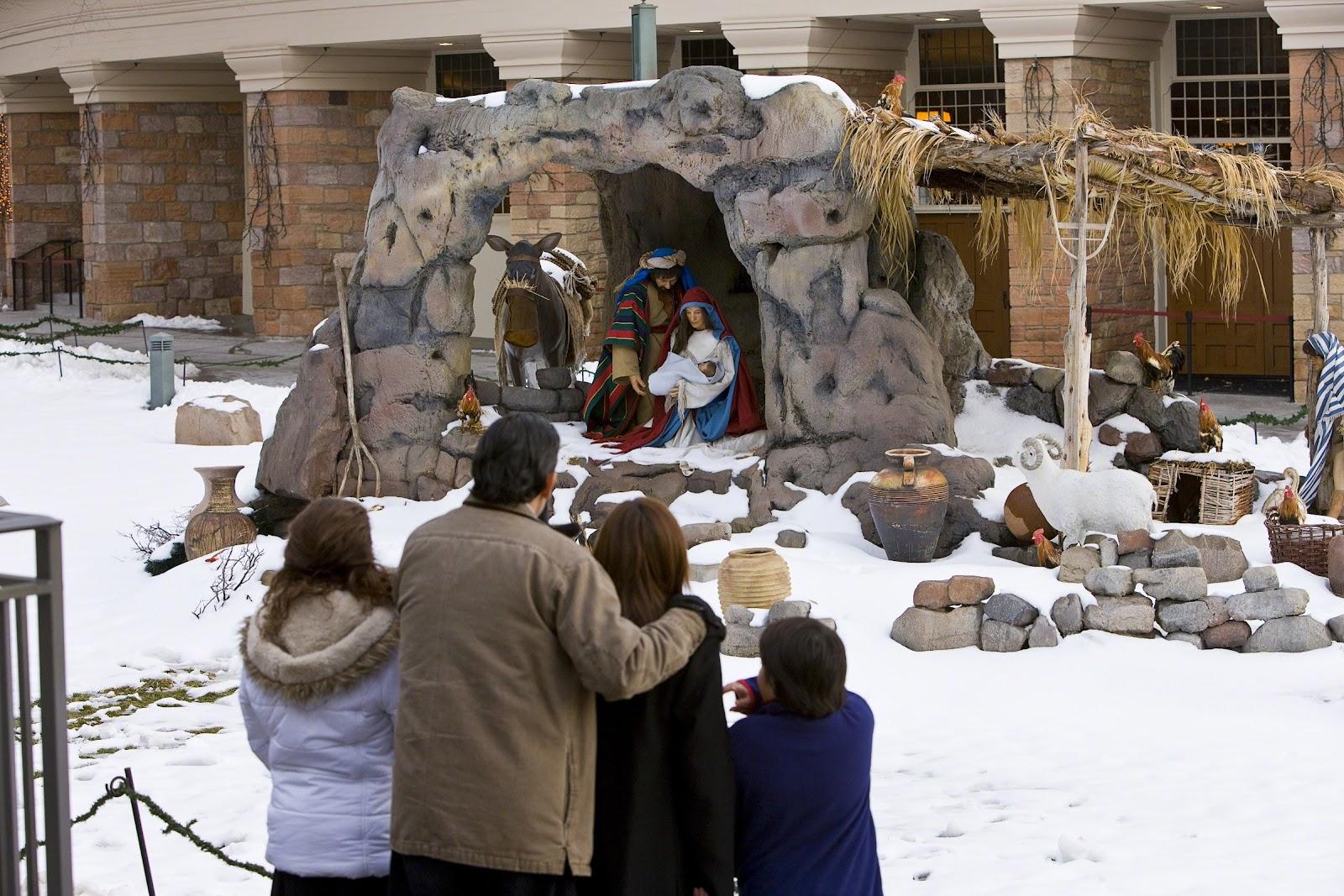 Nativity display at Temple Square in Salt Lake City, Utah