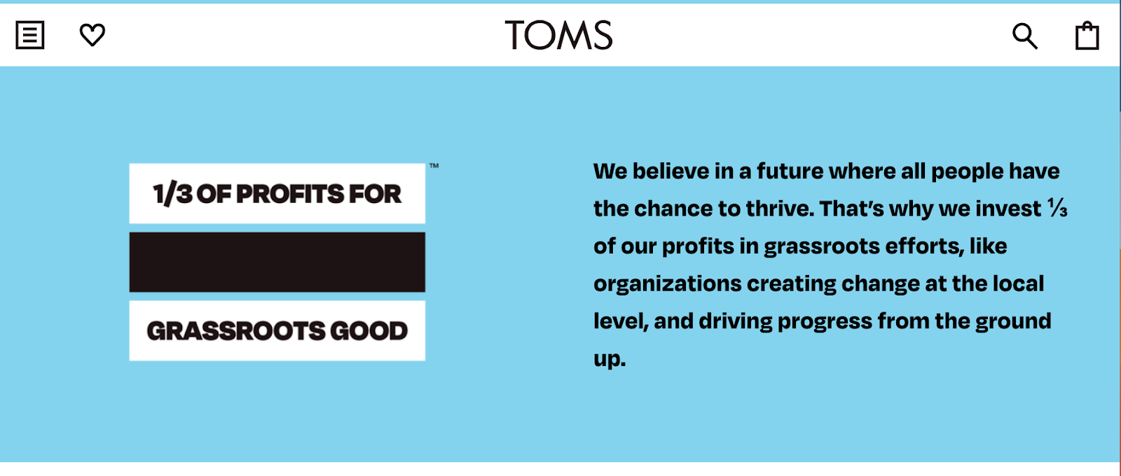 TOMS shoes one for one policy explanation