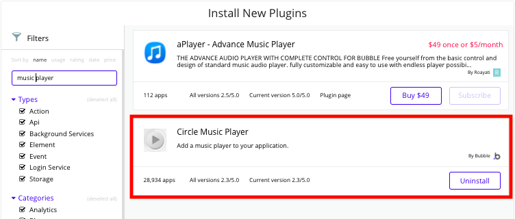 Bubble Music Streaming App Circle Music Player Plugin