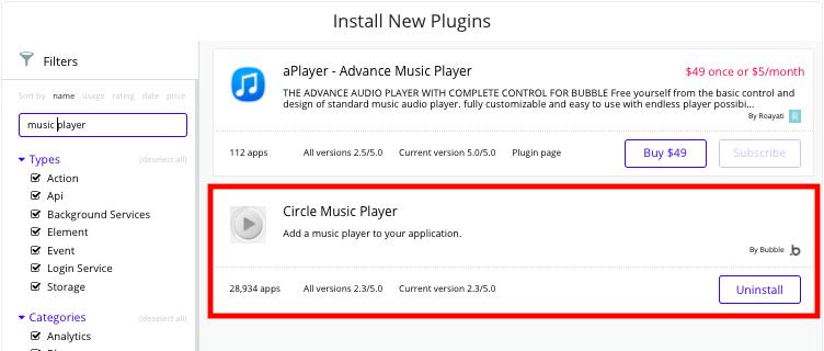 Bubble Music Streaming App Circle Music Player Plugin