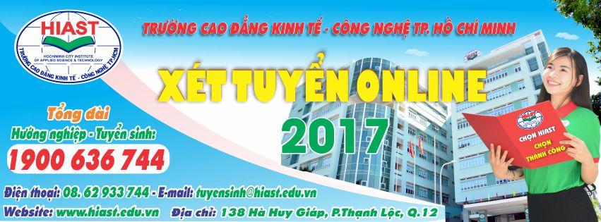 Trang đăng ký xét tuyển Online vào Trường Cao đẳng Kinh tế - Công nghệ TP. Hồ Chí Minh