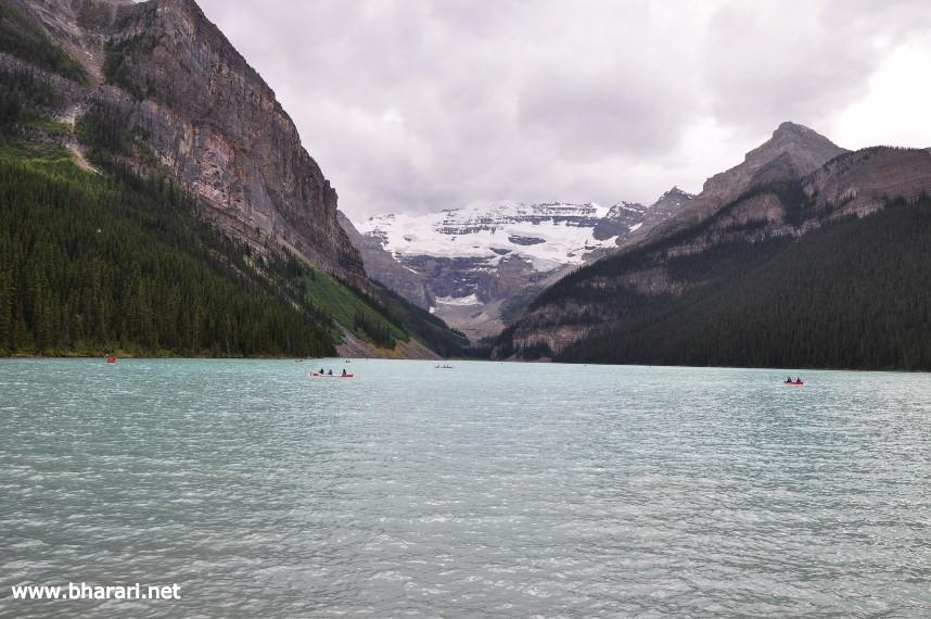 Lake Louise with overcast skies (1st visit)
