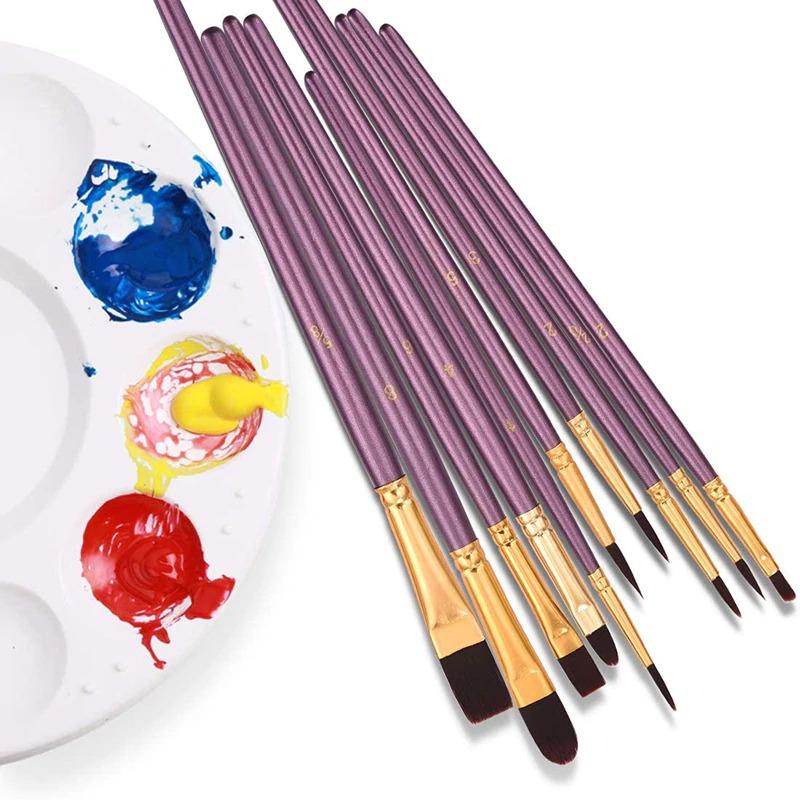 Paint Brushes Set Nylon Hair Painting Brush Oil Watercolor Pen Art Supplies