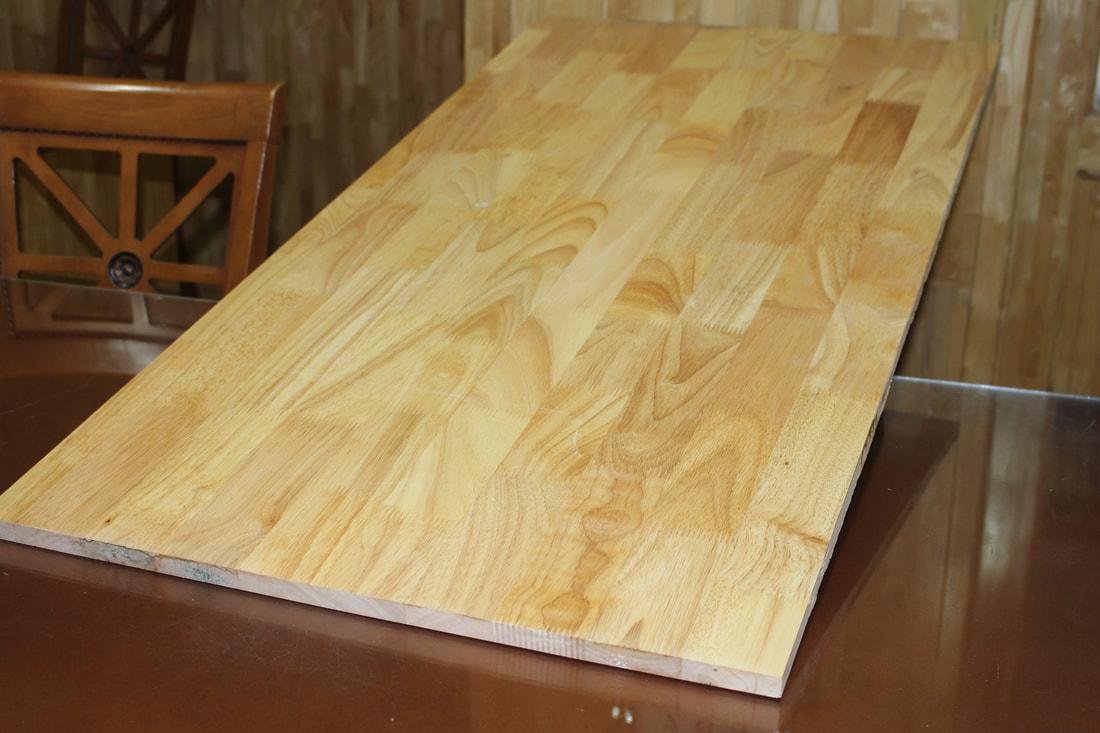 Ván ghép gỗ cao su giúp mọi không gian trở nên sang trọng