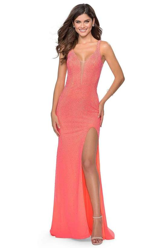 V neck Sheath gown