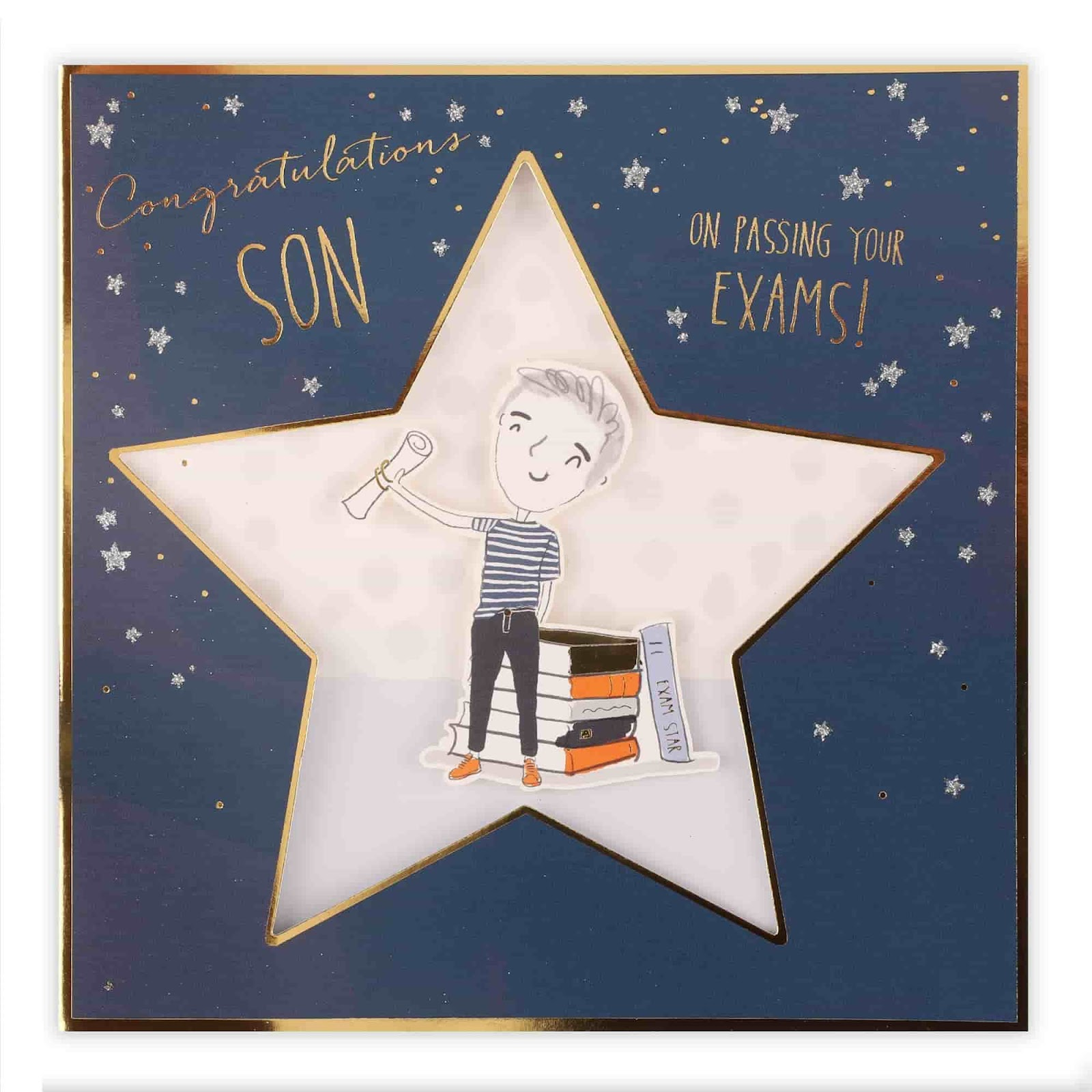 Best graduation gifts; Clintons' congrats passing exams son card