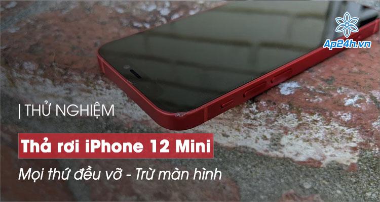 Thả rơi iPhone 12 Mini - Màn hình Ceramic Shield vẫn nguyên vẹn