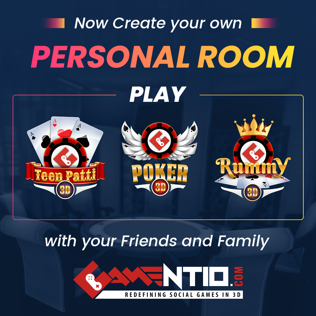 Create your own personal or private rooms to play with your friends and family