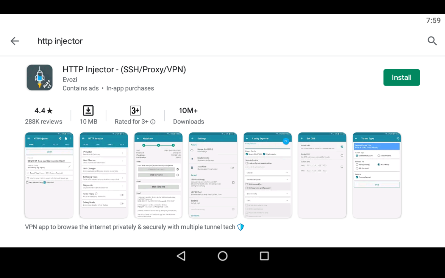 HTTP Injector app on PC