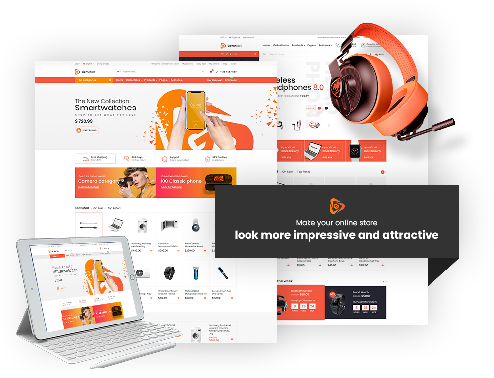 shopify marketplace theme gemmart