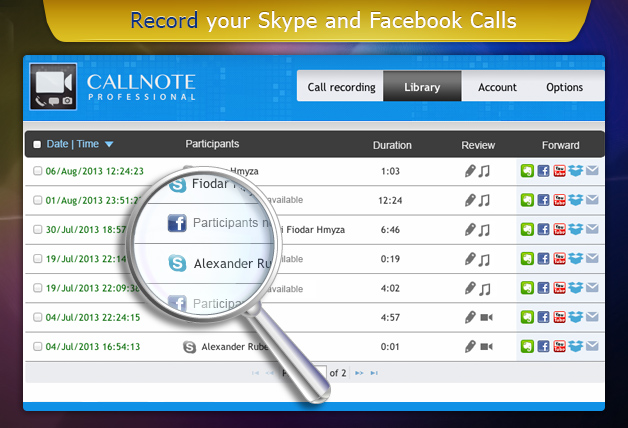 Kanda Releases Callnote Professional for recording and