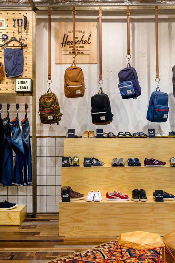 hanging backpack DIY Retail Display Ideas