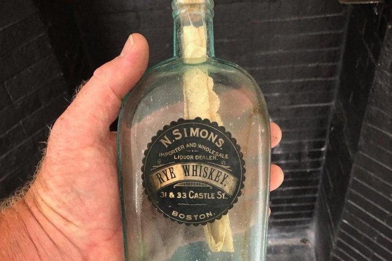 126-year-old message in a bottle found inside Boston wall ...
