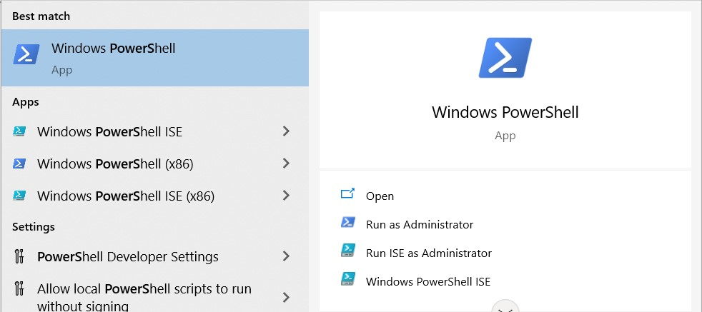 Search results for Windows PowerShell