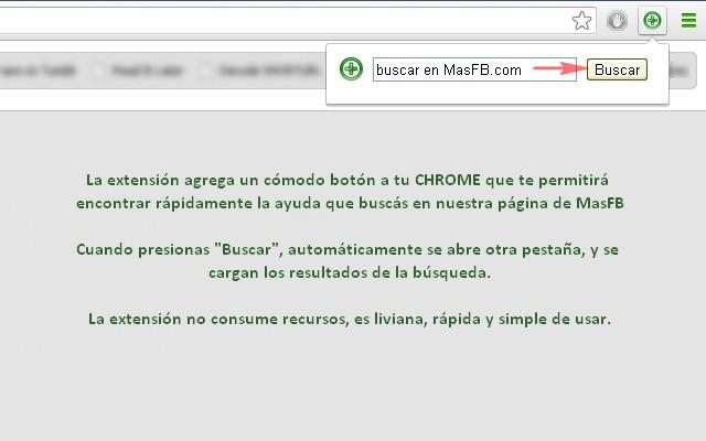 Buscador MasFB chrome extension