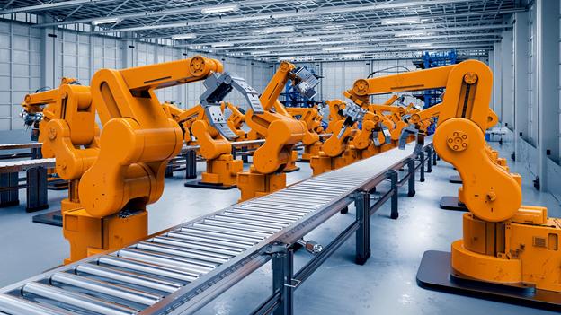 Máy móc công nghiệp giúp dây chuyền hoạt động liên tục