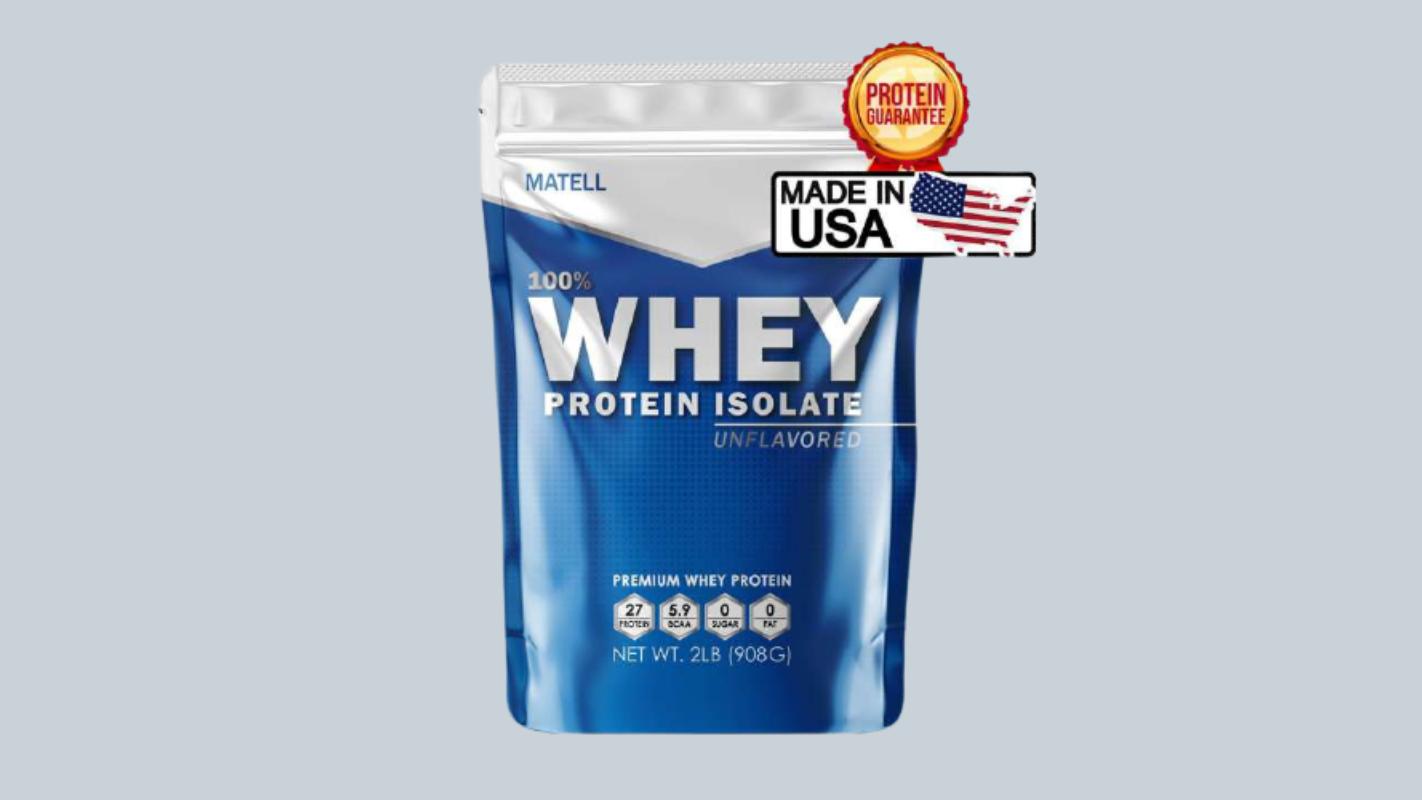 1. Matell Whey Protein Isolate 2 lb + Shaker Bottle