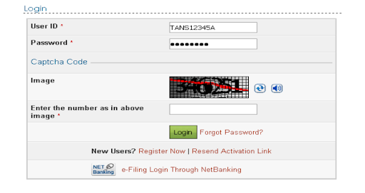 enter id and password