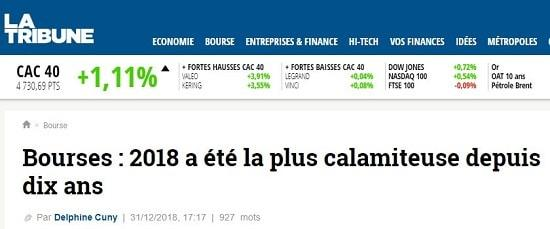 La Tribune - Bourse - 2018
