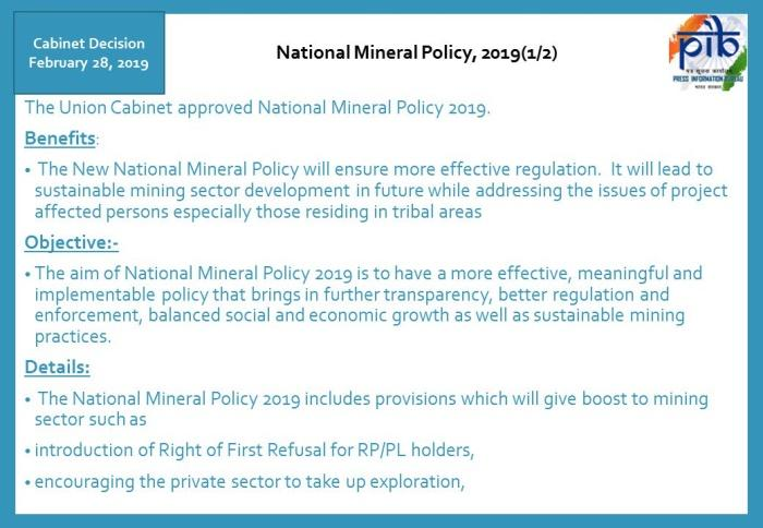 Image result for National Mineral Policy 2019